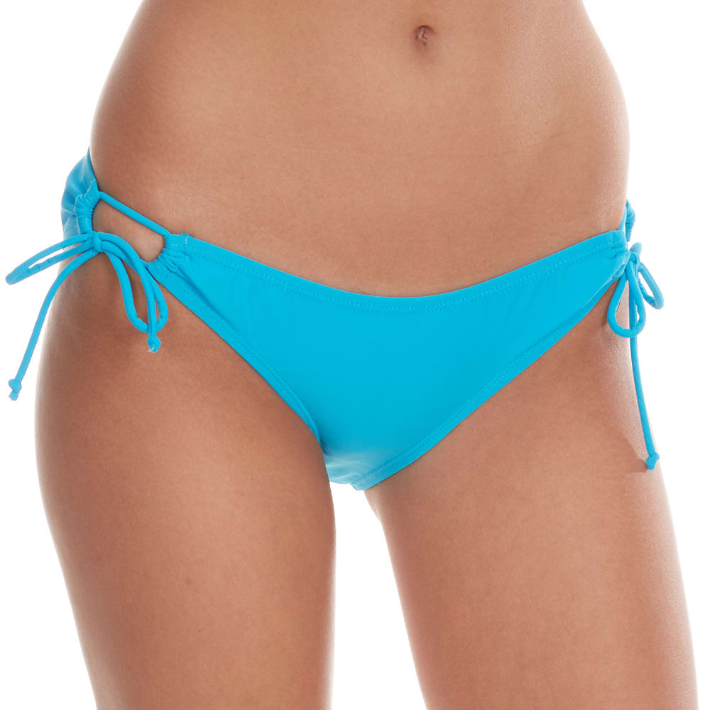 YMI Juniors' Keyhole Side Bikini Bottoms - TURQUOISE