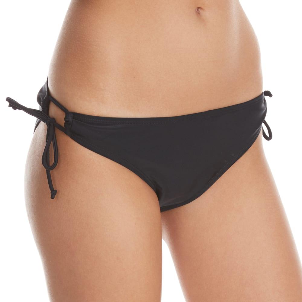 YMI Juniors' Keyhole Solid Bikini Bottom - BLACK