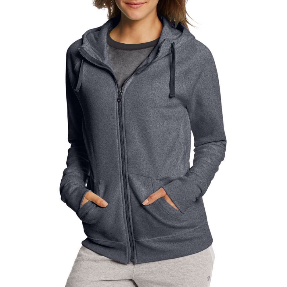CHAMPION Women's Fleece Full-Zip Hoodie - GRANITE HTR-G61