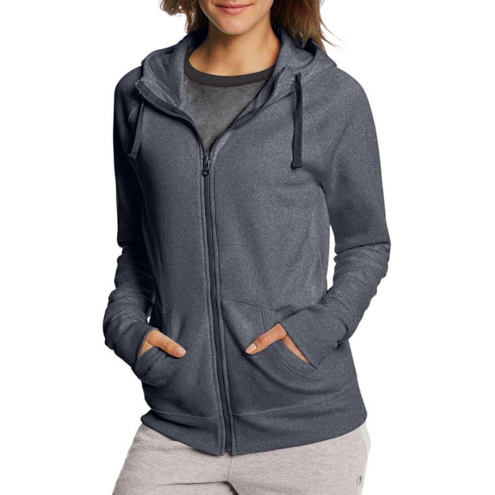 CHAMPION Women's Fleece Full-Zip Hoodie - GRANITE HTR-G61