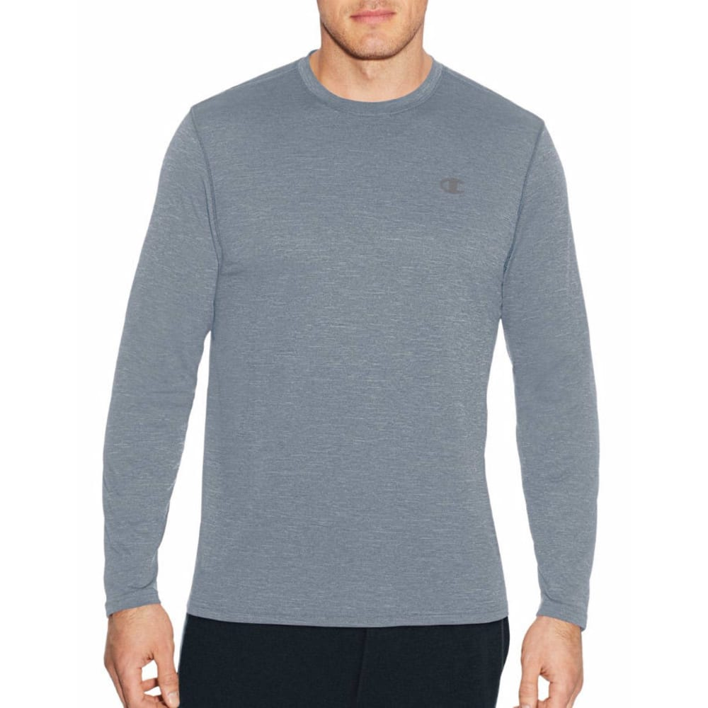 Champion Men's Vapor Heather Long-Sleeve Tee - Black, M