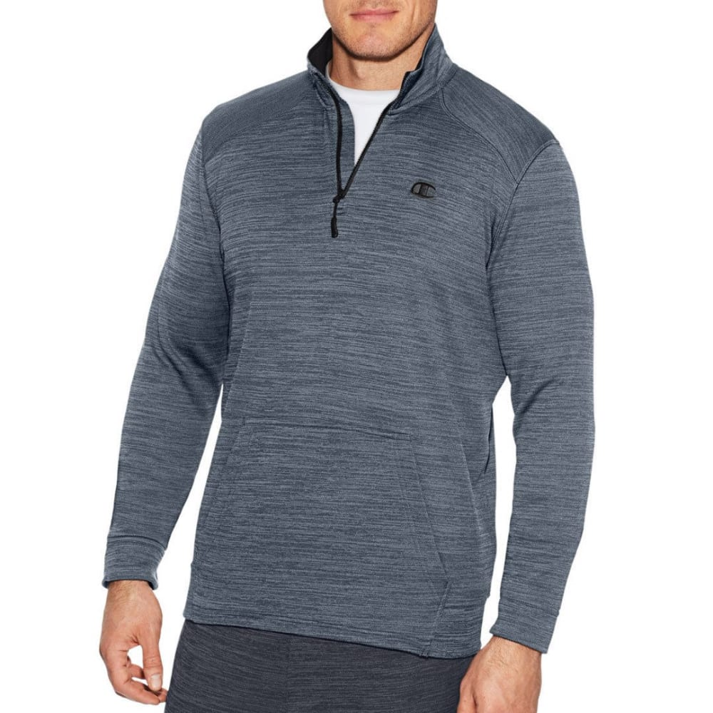 Champion Men's Premium Tech Fleece Quarter-Zip Pullover - Black, M