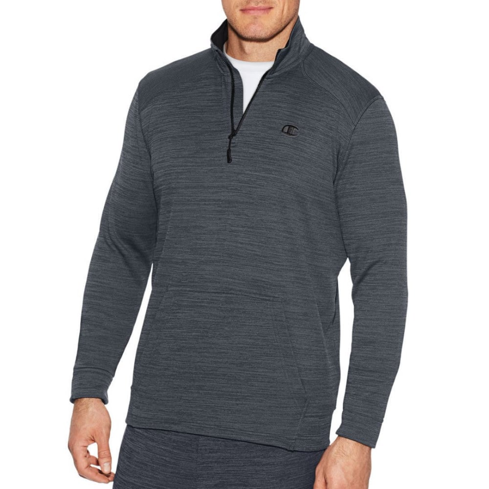 CHAMPION Men's Premium Tech Fleece Quarter-Zip Pullover - STEALTH HTR-B97
