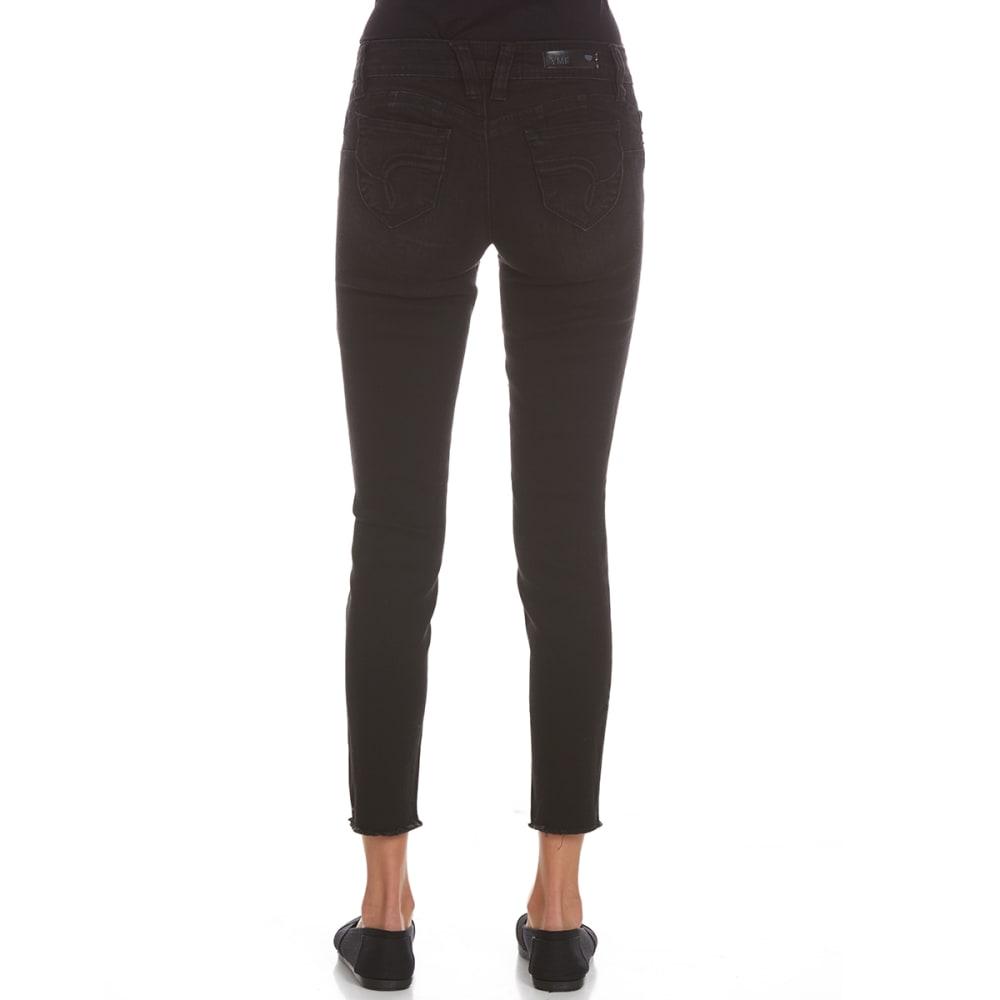 YMI Juniors' Wanna Betta Butt Anklet Jeans With Frayed Hem - W571-BLACK