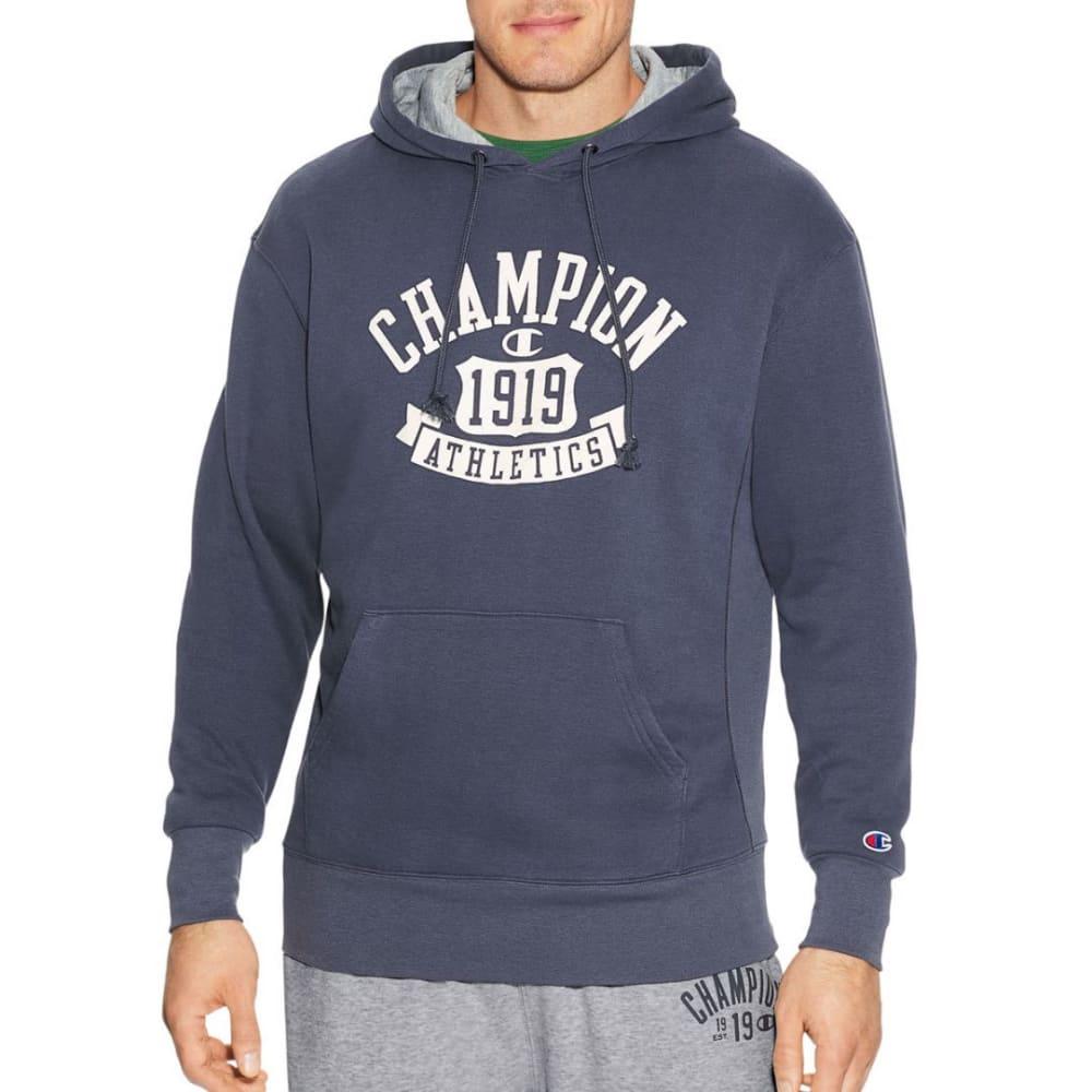 CHAMPION Men's Heritage Fleece Pullover Hoodie - ANCHOR SLATE-YI9