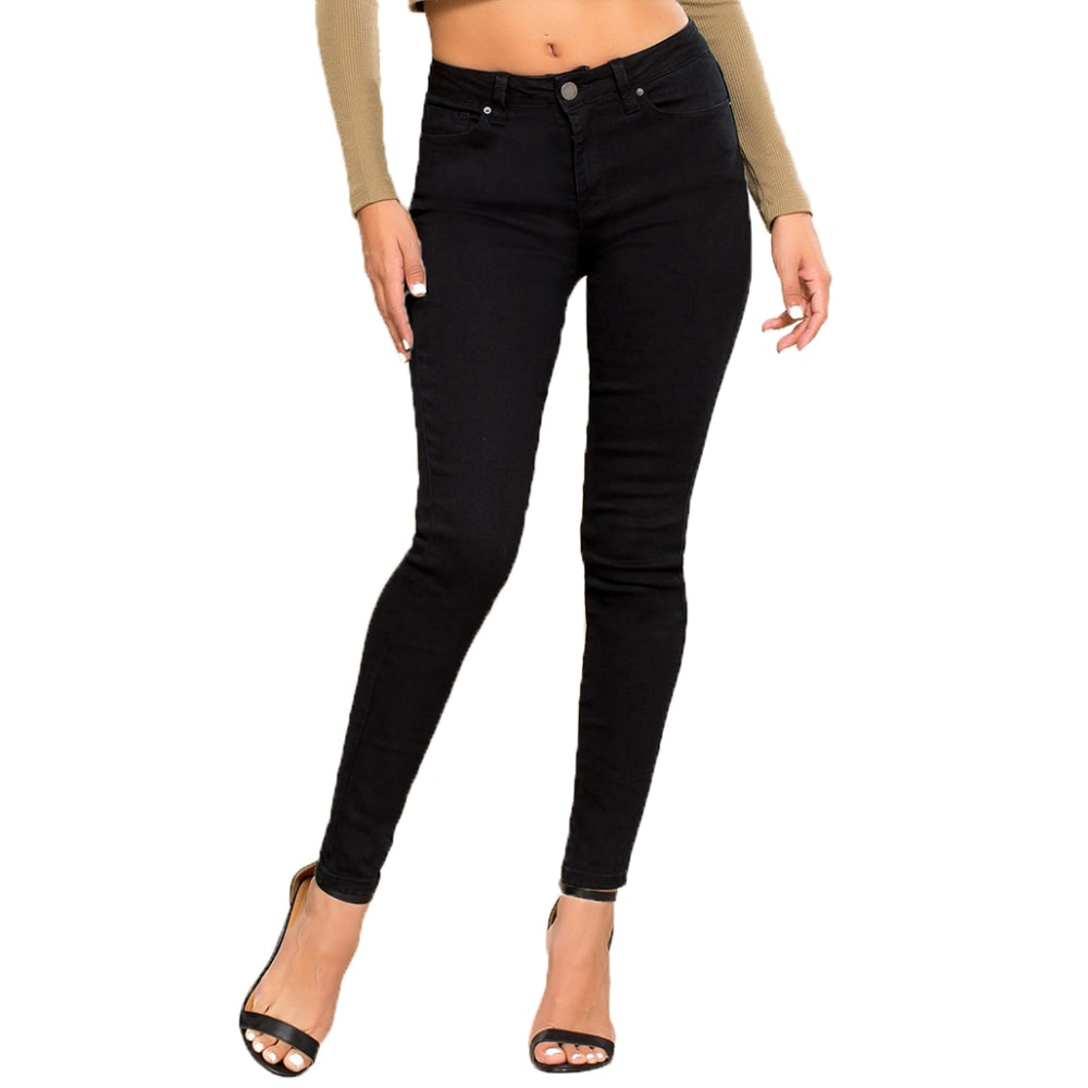 YMI Juniors' Hide Your Muffin Top High-Waist Skinny Jeans 3