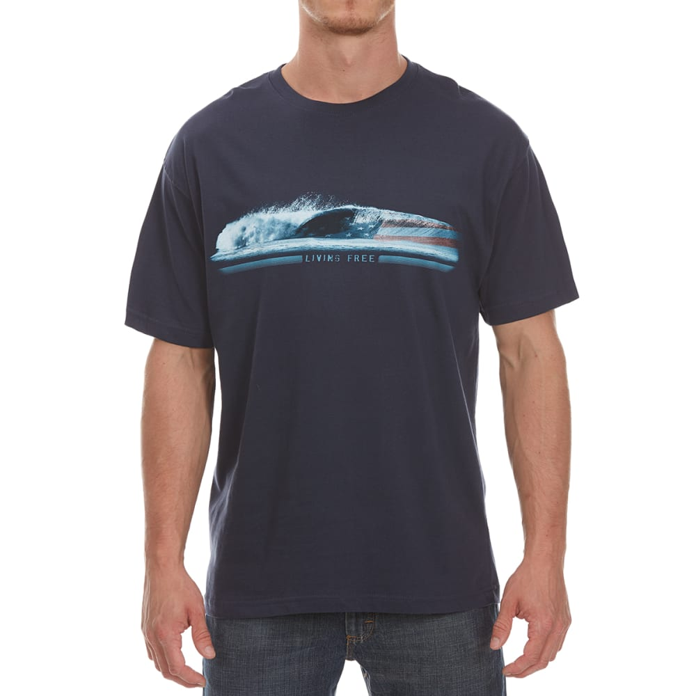 NEWPORT BLUE Men's Wave of Freedom Short-Sleeve Tee - NAVY
