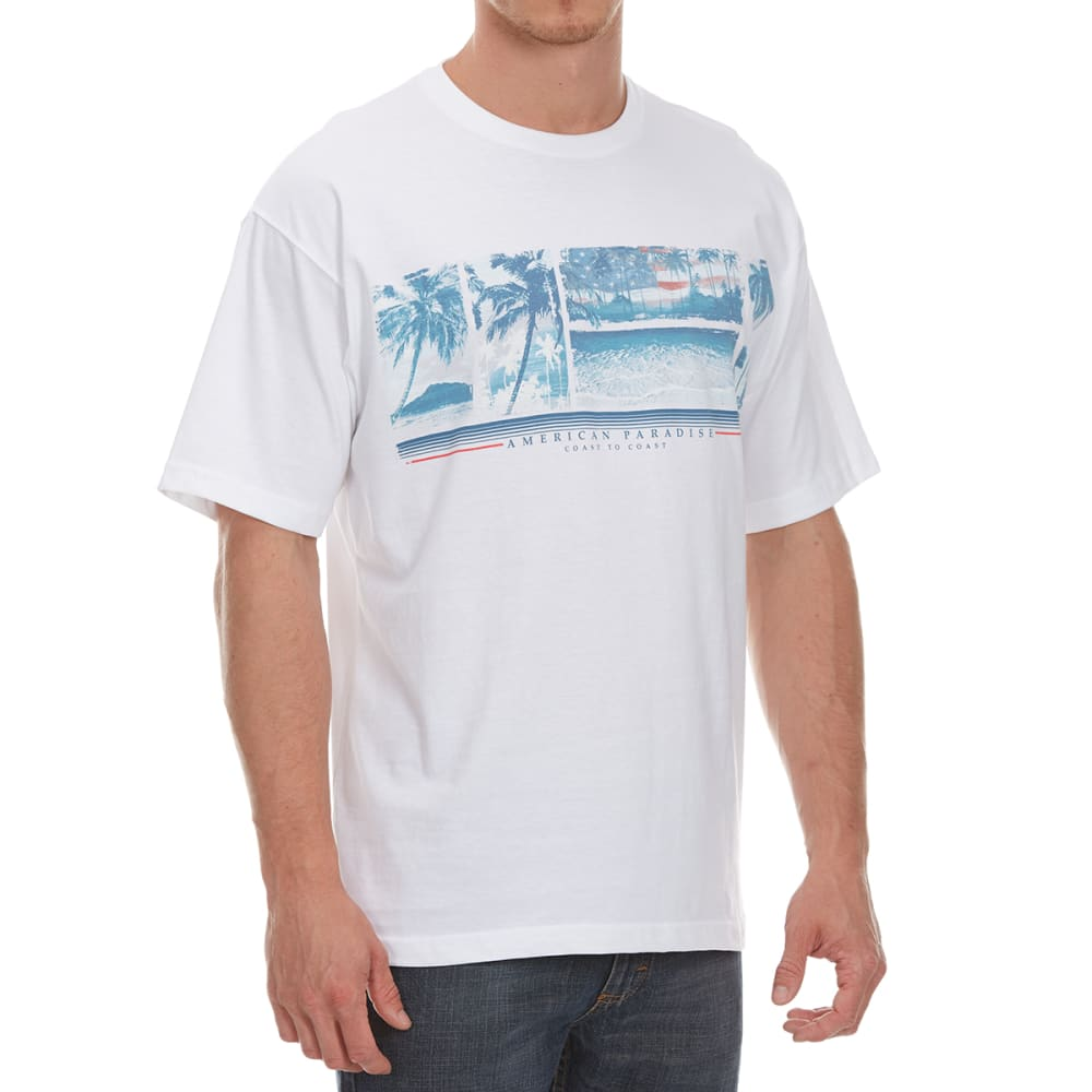 NEWPORT BLUE Men's American Paradise Short-Sleeve Tee - WHITE