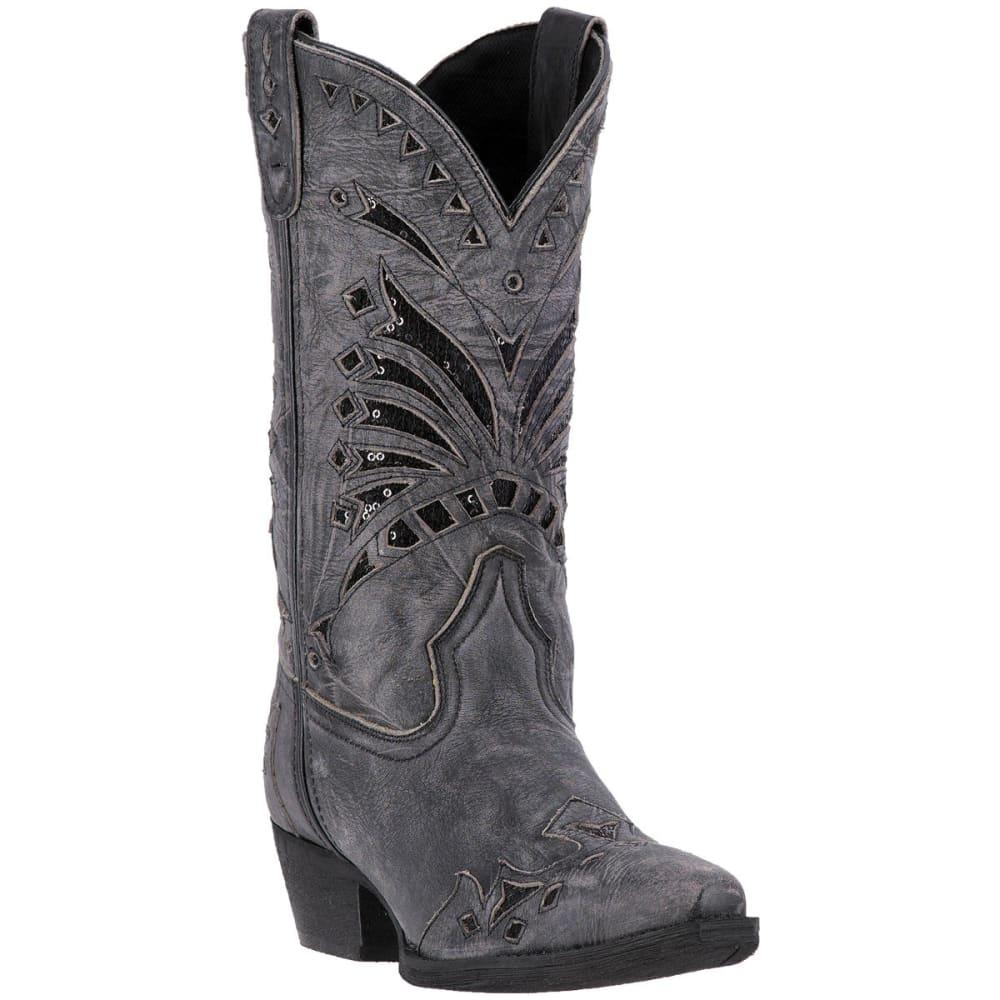 LAREDO Women's Stevie Cowboy Boots, Black - BLACK DISTRESSED