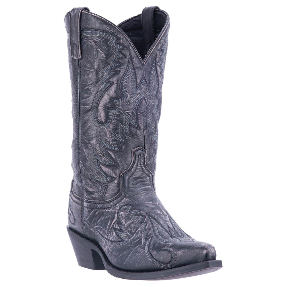 LAREDO Men's Garrett Cowboy Boots, Black, Wide - BLACK DISTRESSED