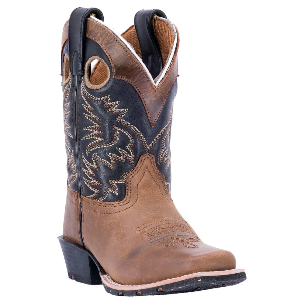 DAN POST Boy's Rascal Cowboy Boots, Brown - AGED BARK