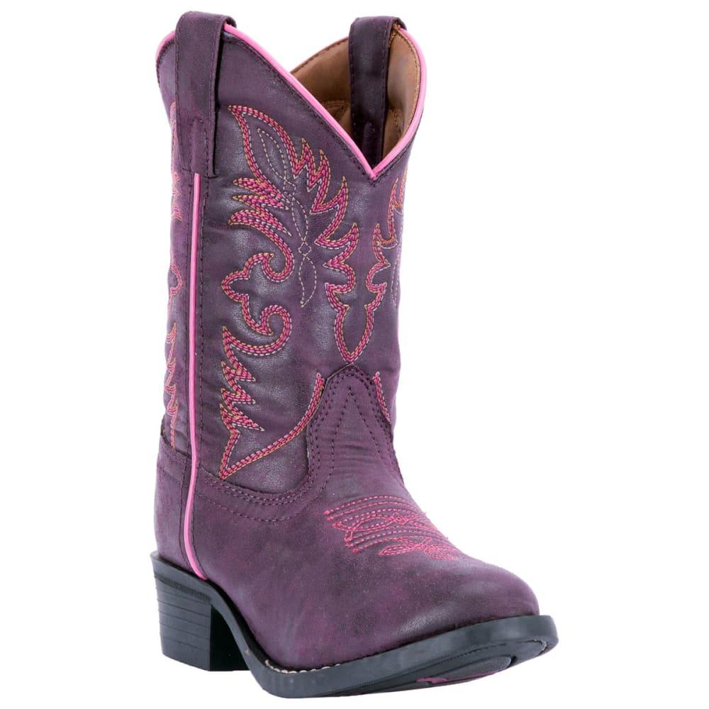 LAREDO Little Girls' Jam Cowboy Boots, Purple - PURPLE