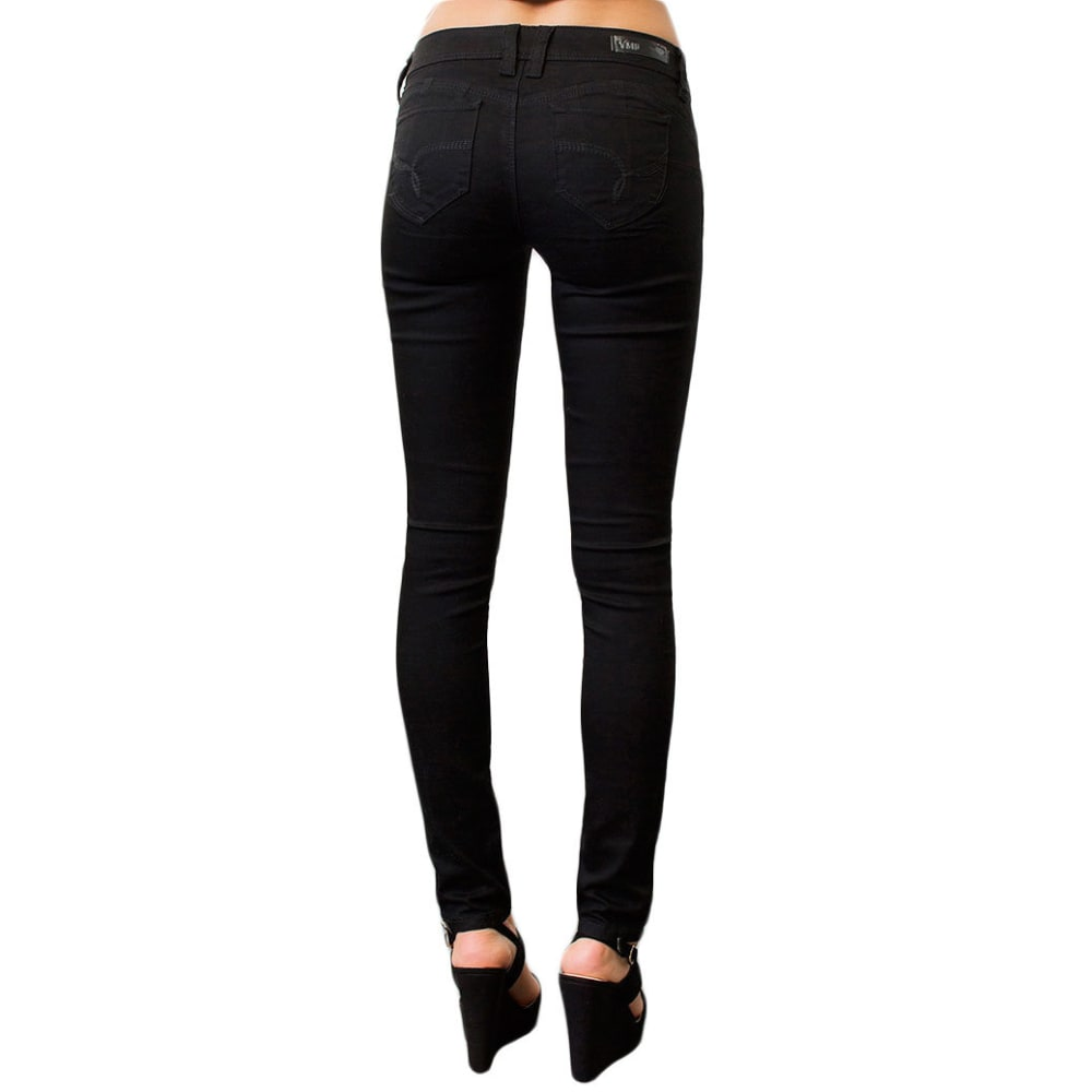 YMI Juniors' Wanna Betta Butt Colored Twill Skinny Jeans - BLACK