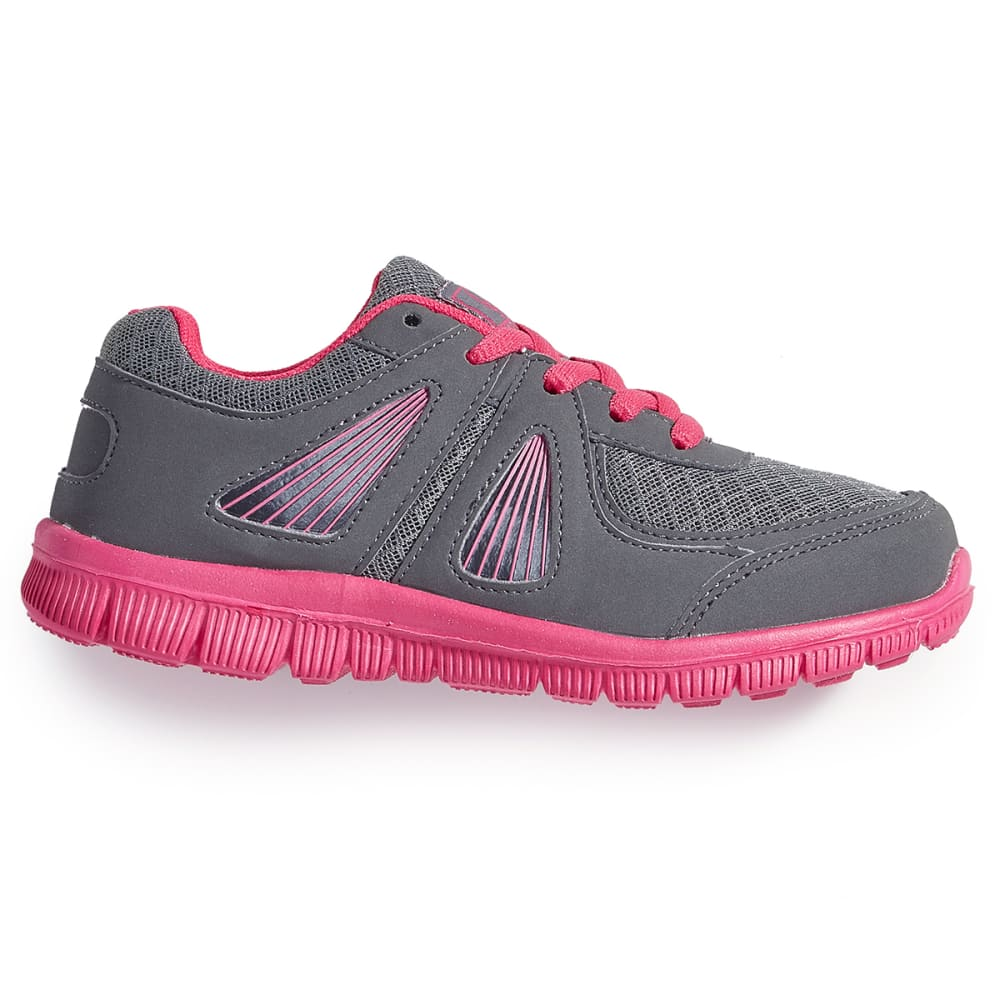 OSITOS Girls' Athletic Runner Shoes, Grey/Fuchsia - GREY/FUCHSIA