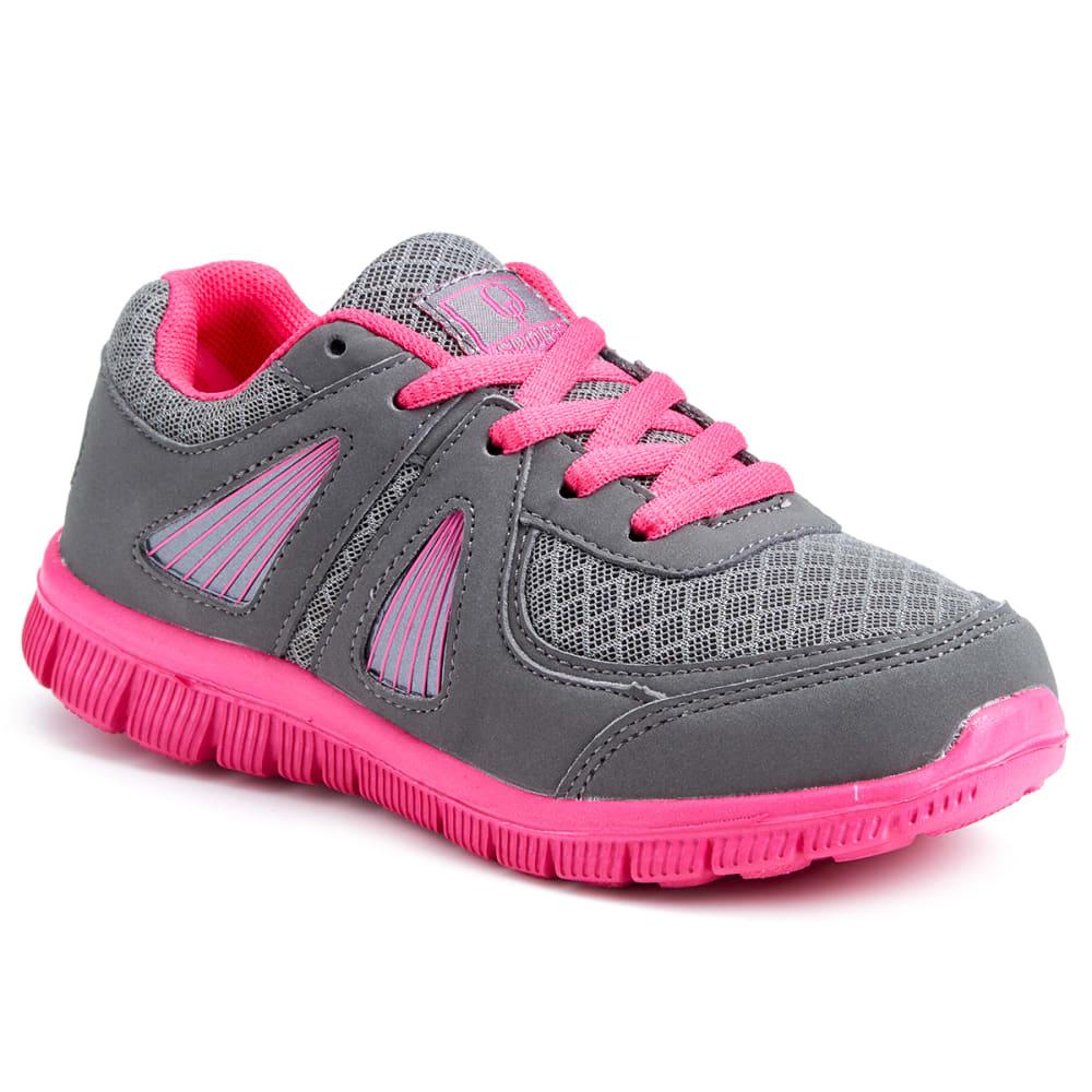OSITOS Girls' Athletic Runner Shoes, Grey/Fuchsia - GREY/FUCHSIA