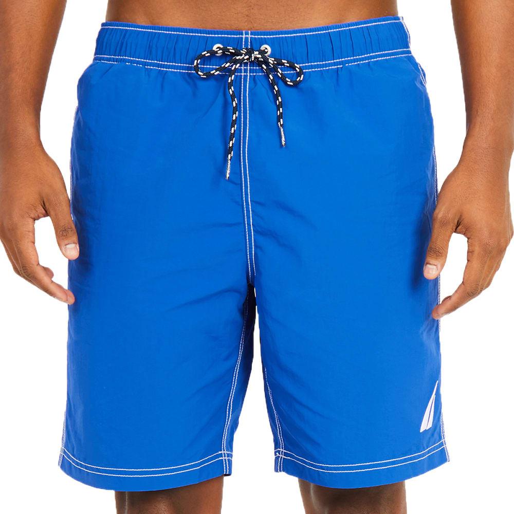 NAUTICA Men's Quick-Dry Signature Swim Trunks L