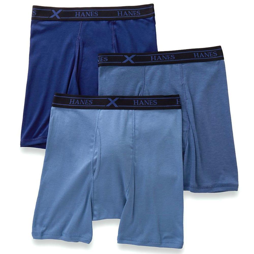 HANES Men's Ultimate X-Temp Boxer Briefs, 3-Pack - ASST