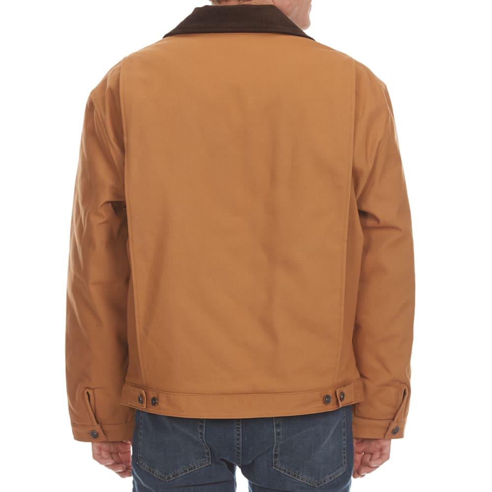 TEFLON Men's Cotton Duck Jacket with Contrast Collar - DARK BROWN