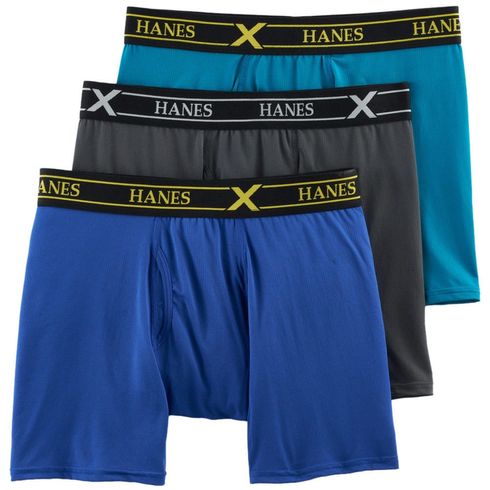 HANES Men's Ultimate FreshIQ X-Temp Air Boxer Briefs, 3-Pack - ASST