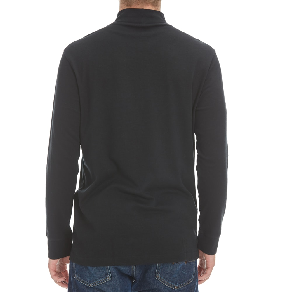 NORTH HUDSON Men's Mock Neck Shirt - BLACK