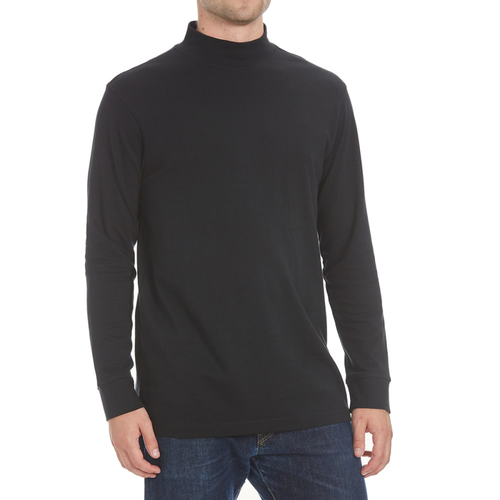 North Hudson Men's Mock Neck Shirt - Black, L