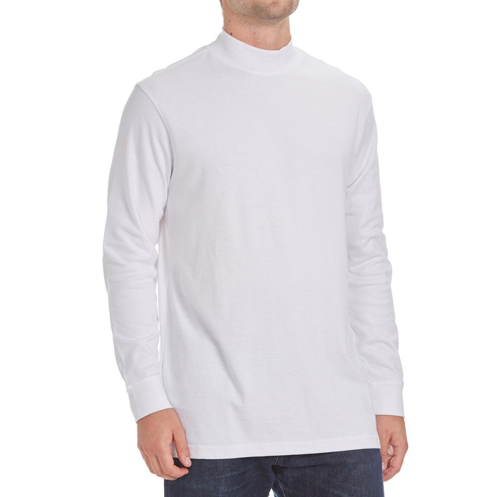 NORTH HUDSON Men's Mock Neck Shirt - WHITE