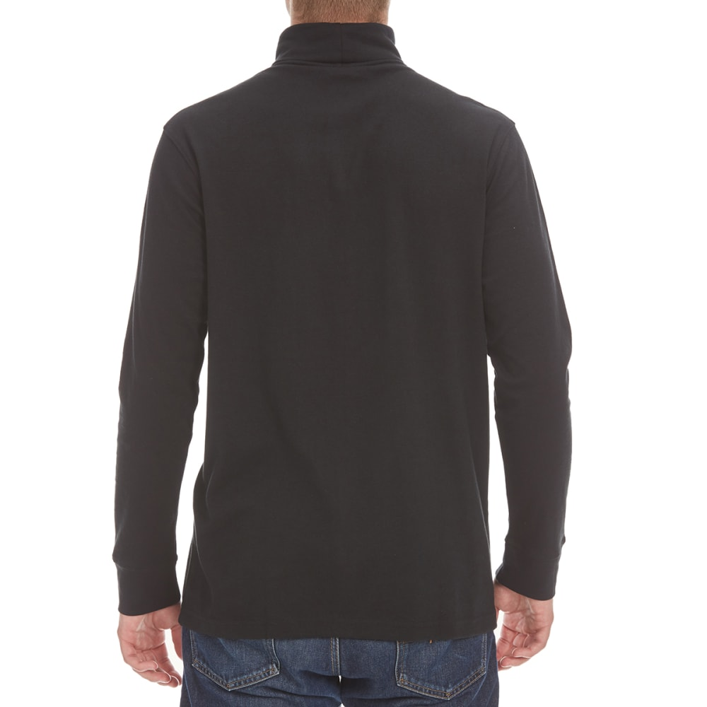 NORTH HUDSON Men's Turtleneck Long-Sleeve Shirt - BLACK