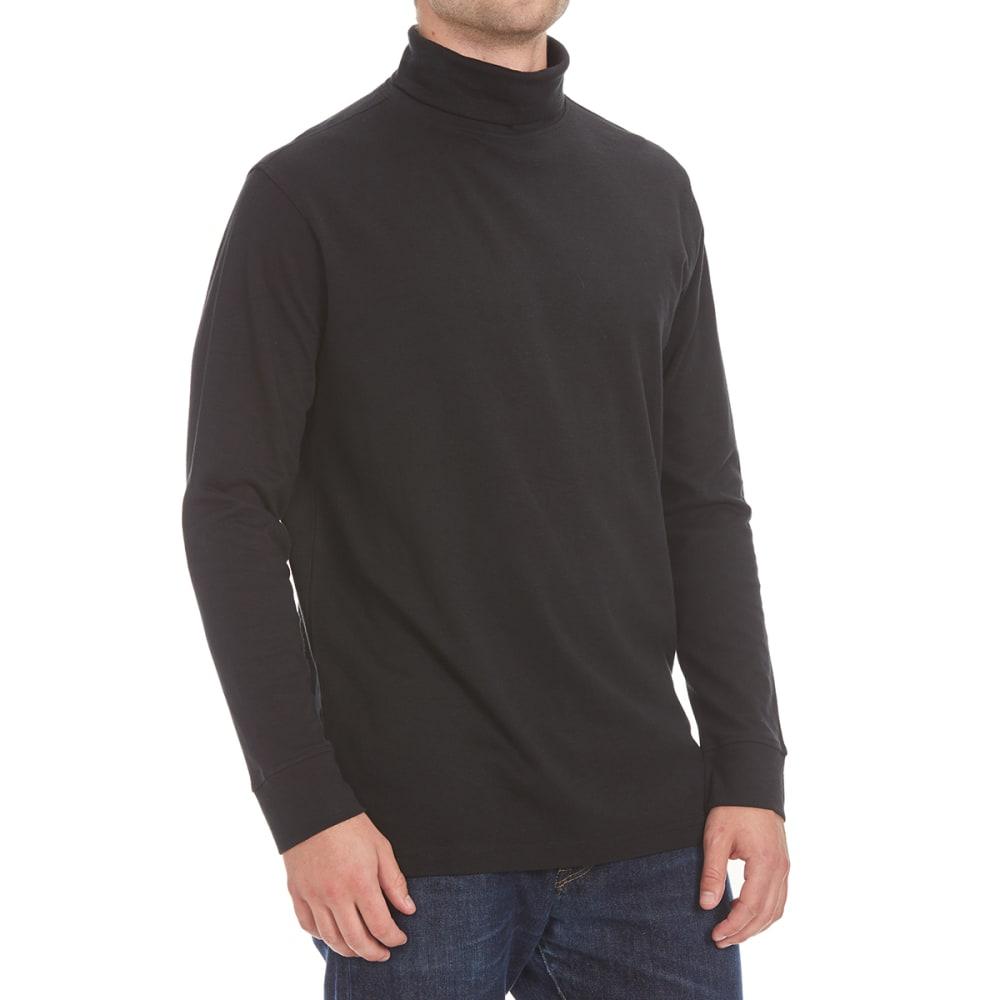 NORTH HUDSON Men's Turtleneck Long-Sleeve Shirt - BLACK