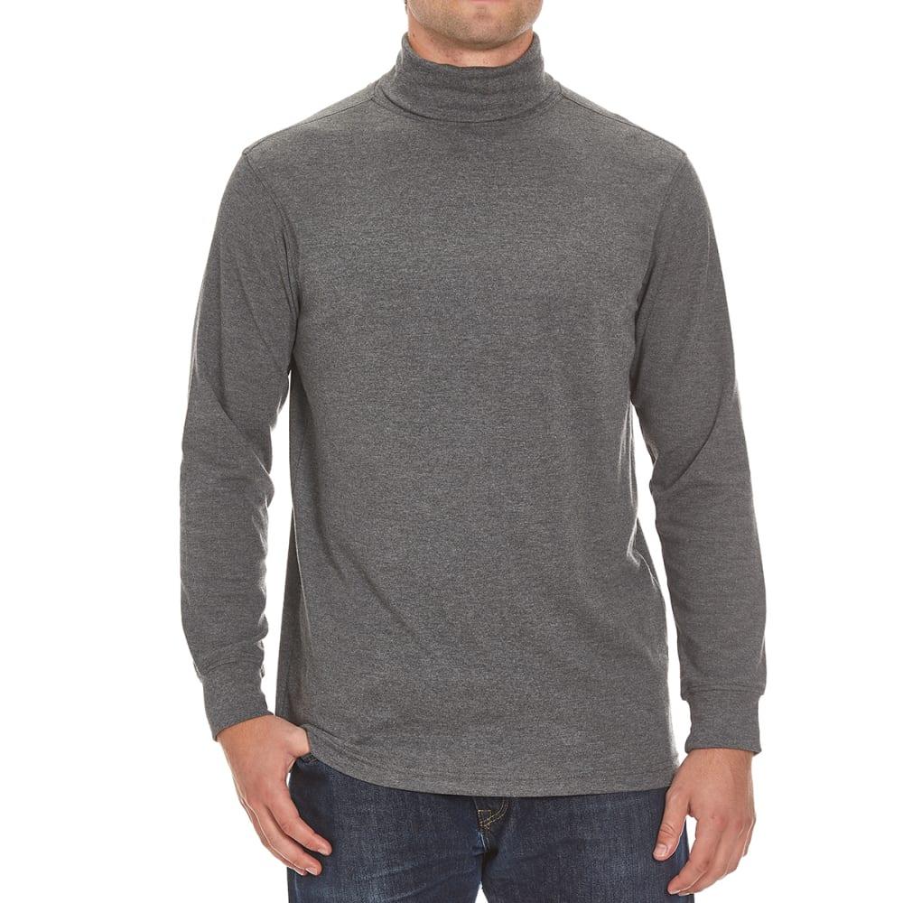 NORTH HUDSON Men's Turtleneck Long-Sleeve Shirt - CHARCOAL