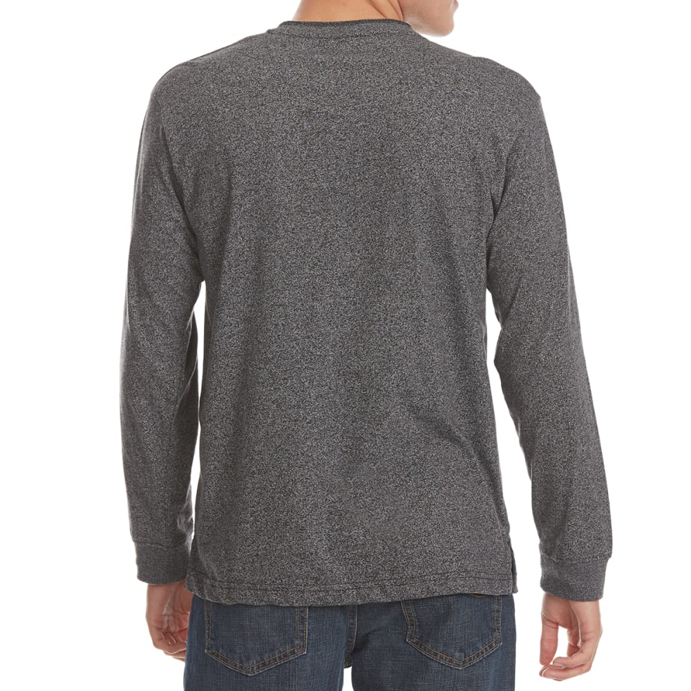 NORTH HUDSON Men's Grindle Henley Long-Sleeve Shirt - CHARCOAL GRINDLE