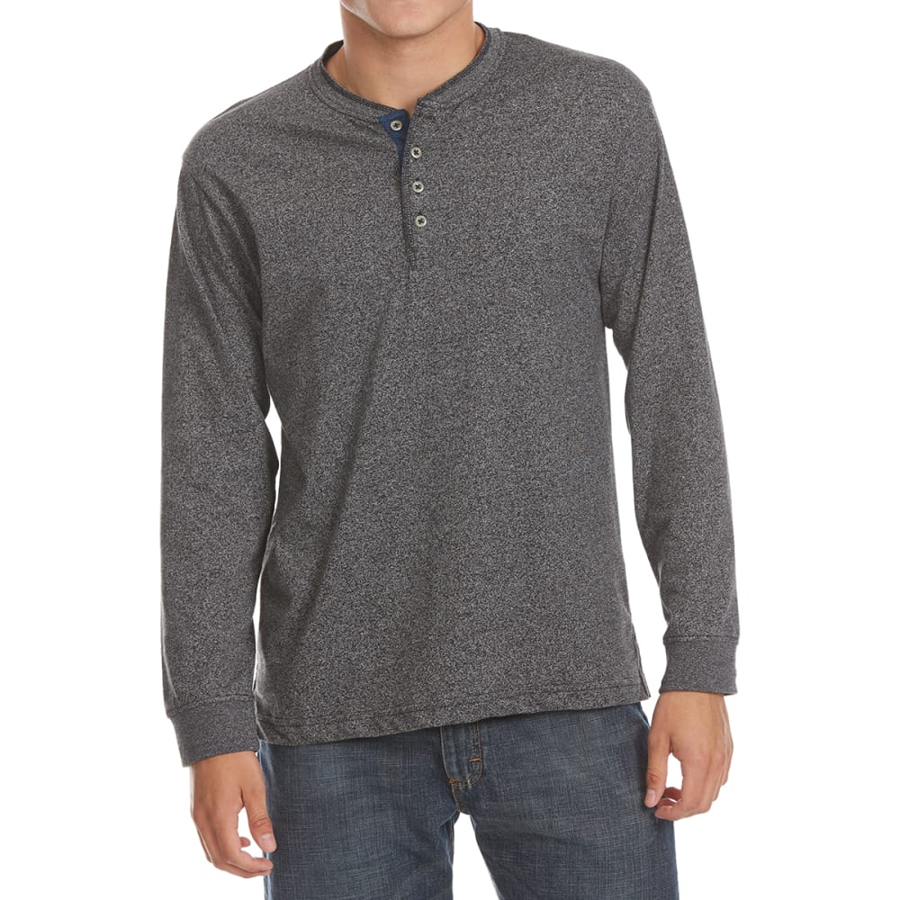 NORTH HUDSON Men's Grindle Henley Long-Sleeve Shirt M