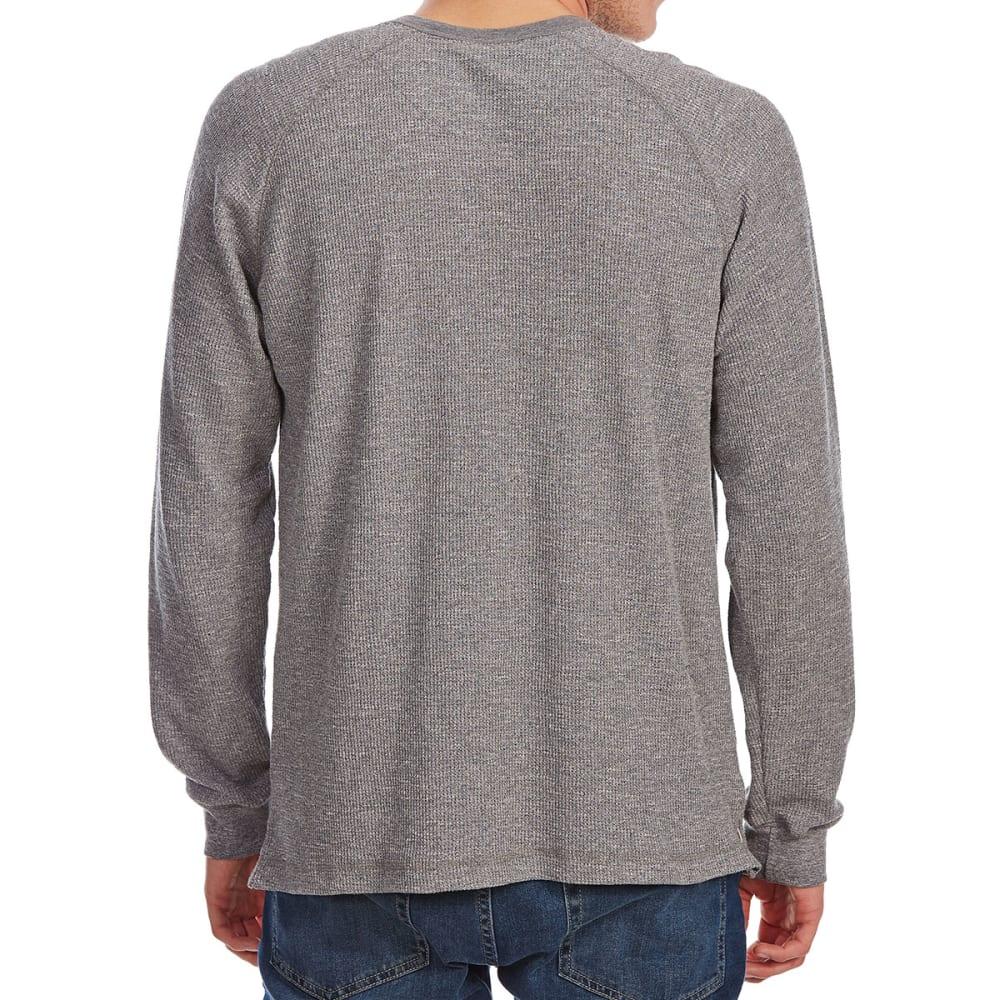 NORTH HUDSON Men's Grindle Thermal Raglan Long-Sleeve Henley - GRY GRINDLE