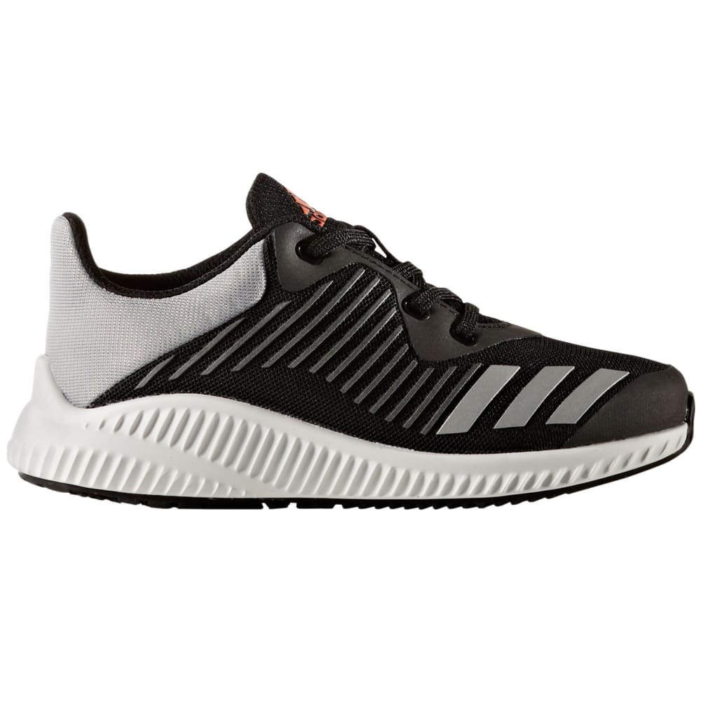 ADIDAS Boys' FortaRun K Running Shoes, Black/Silver, Wide - BLACK