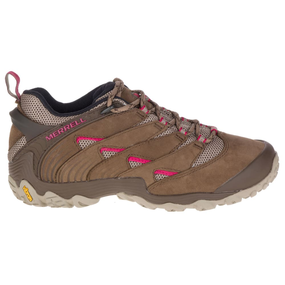 MERRELL Women's Chameleon 7 Low Hiking Shoes - MERRELL STONE