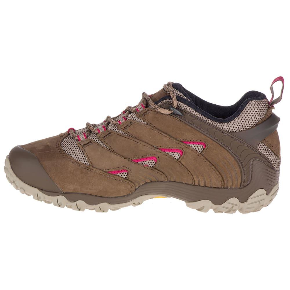 MERRELL Women's Chameleon 7 Low Hiking Shoes, Stone - MERRELL STONE