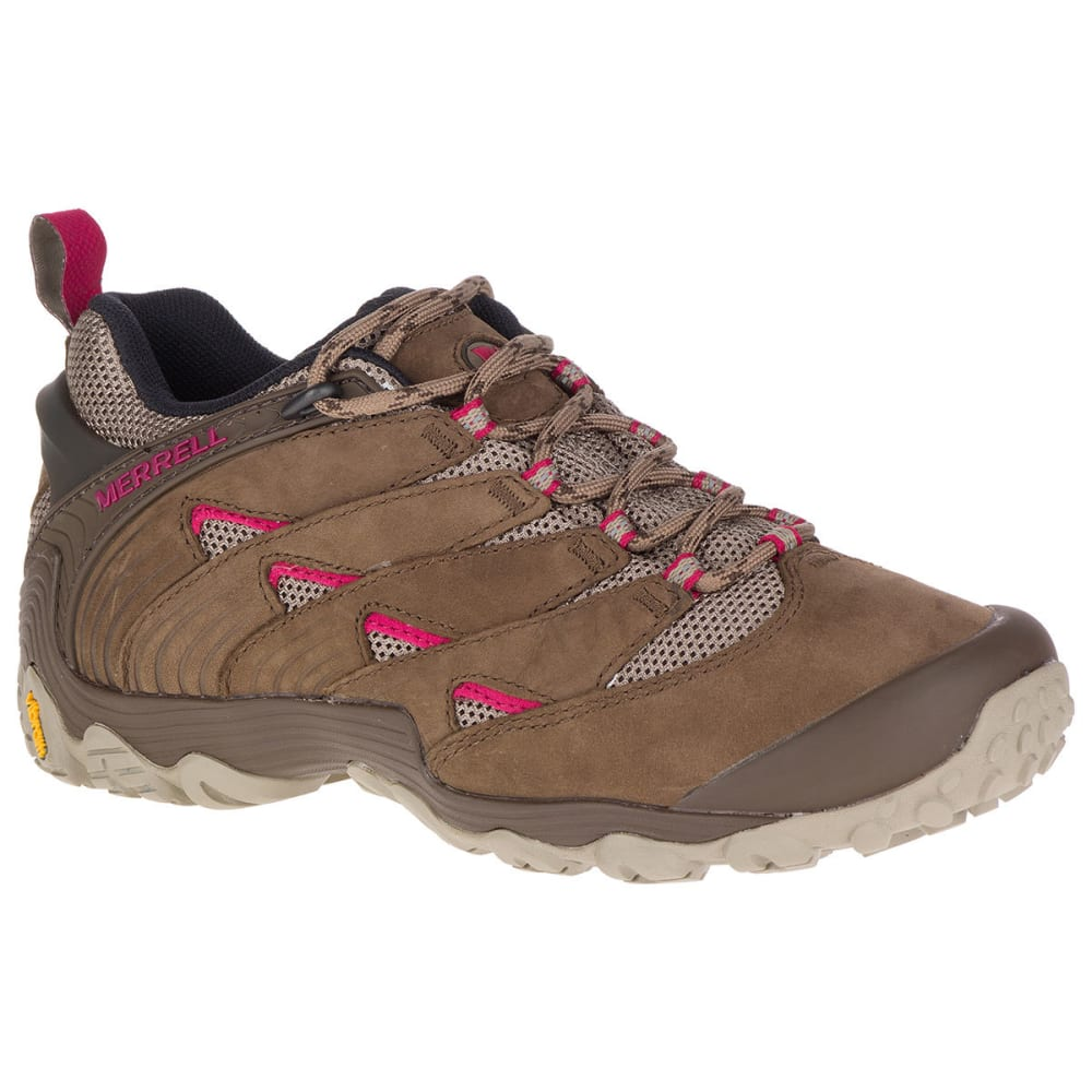 MERRELL Women's Chameleon 7 Low Hiking Shoes, Stone - MERRELL STONE