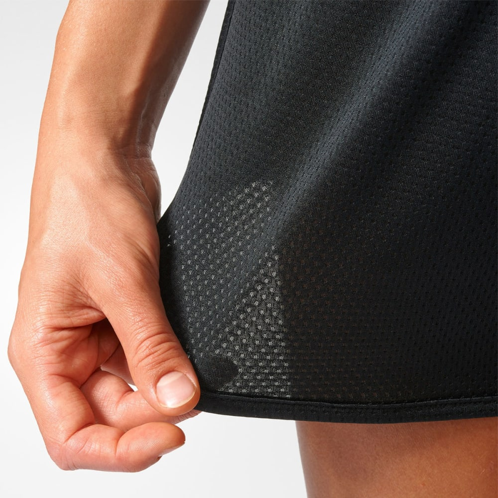 ADIDAS Women's 3-Stripe Knit Shorts - BLACK/BLUE-BQ9135