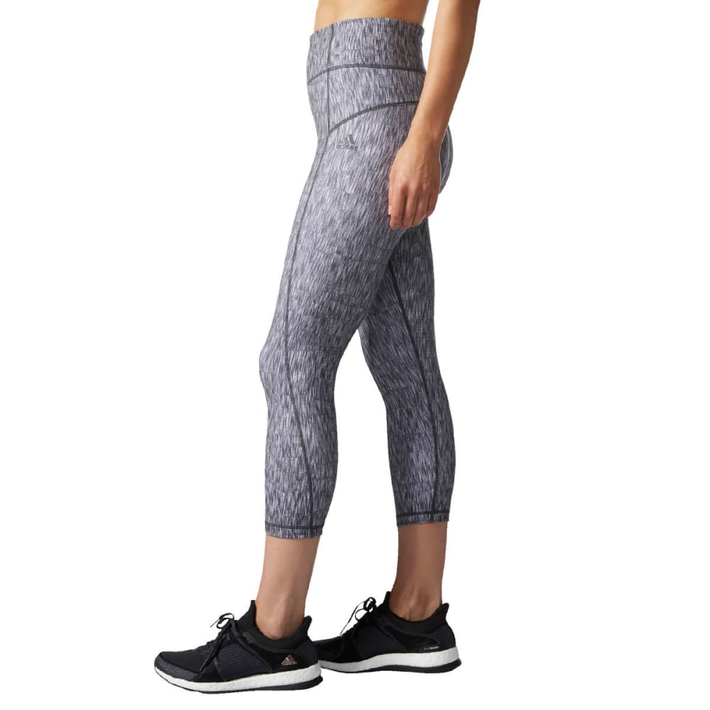 Adidas Women's Performer High-Rise Heathered Ikat  3/4-Length Tights