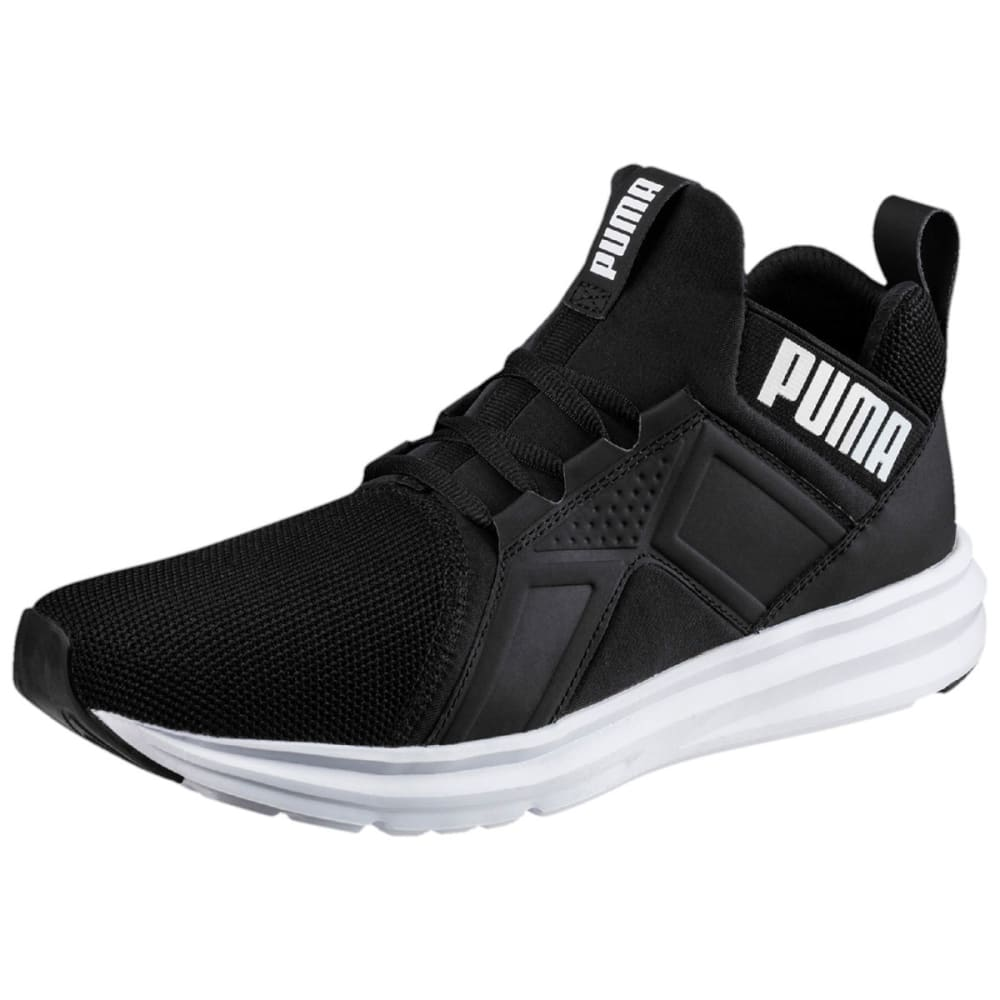 Puma Men's Enzo Mesh Running Shoes - Black, 8