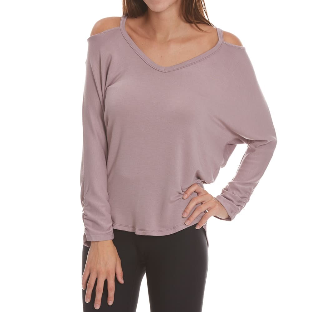 TRESICS FEMME Women's Dolman ¾-Sleeve Top with Cutout Detail - ANTIQUE PURPLE
