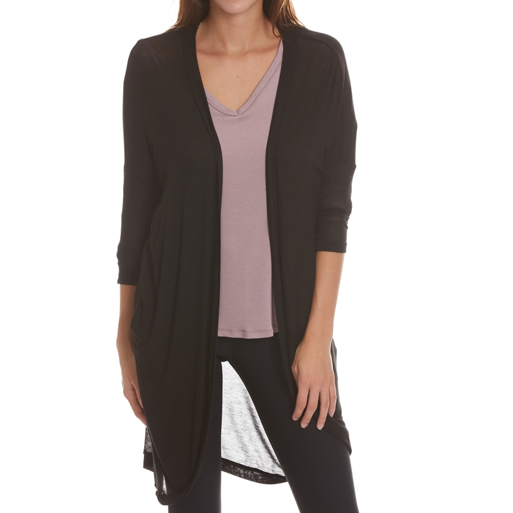 TRESICS LUXE Women's Baby Hacci ¾-Sleeve Cardigan - BLACK