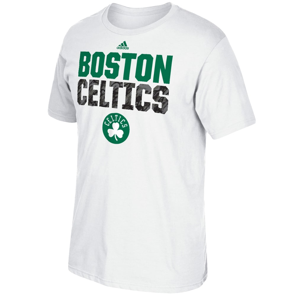 ADIDAS Men's Boston Celtics Wordmark Short-Sleeve Tee - WHITE