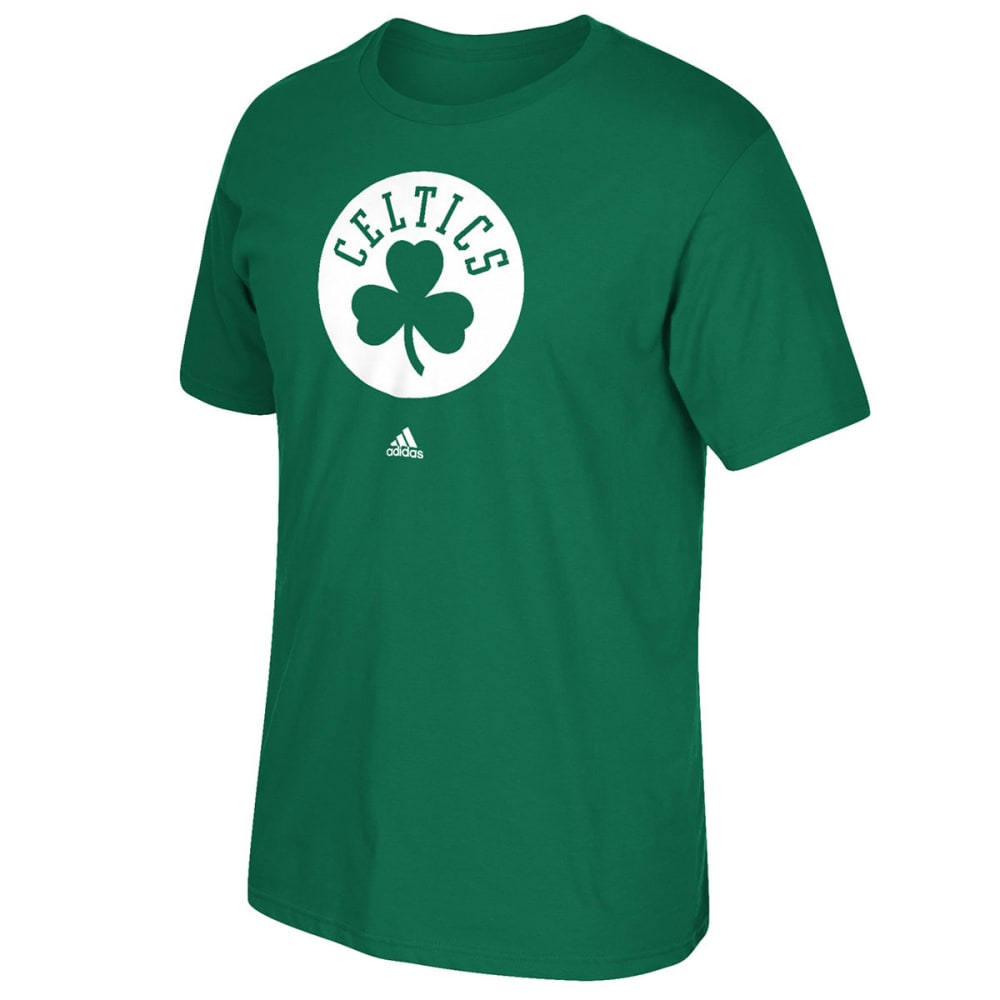 ADIDAS Men's Boston Celtics Circle Logo Short-Sleeve Tee - GREEN