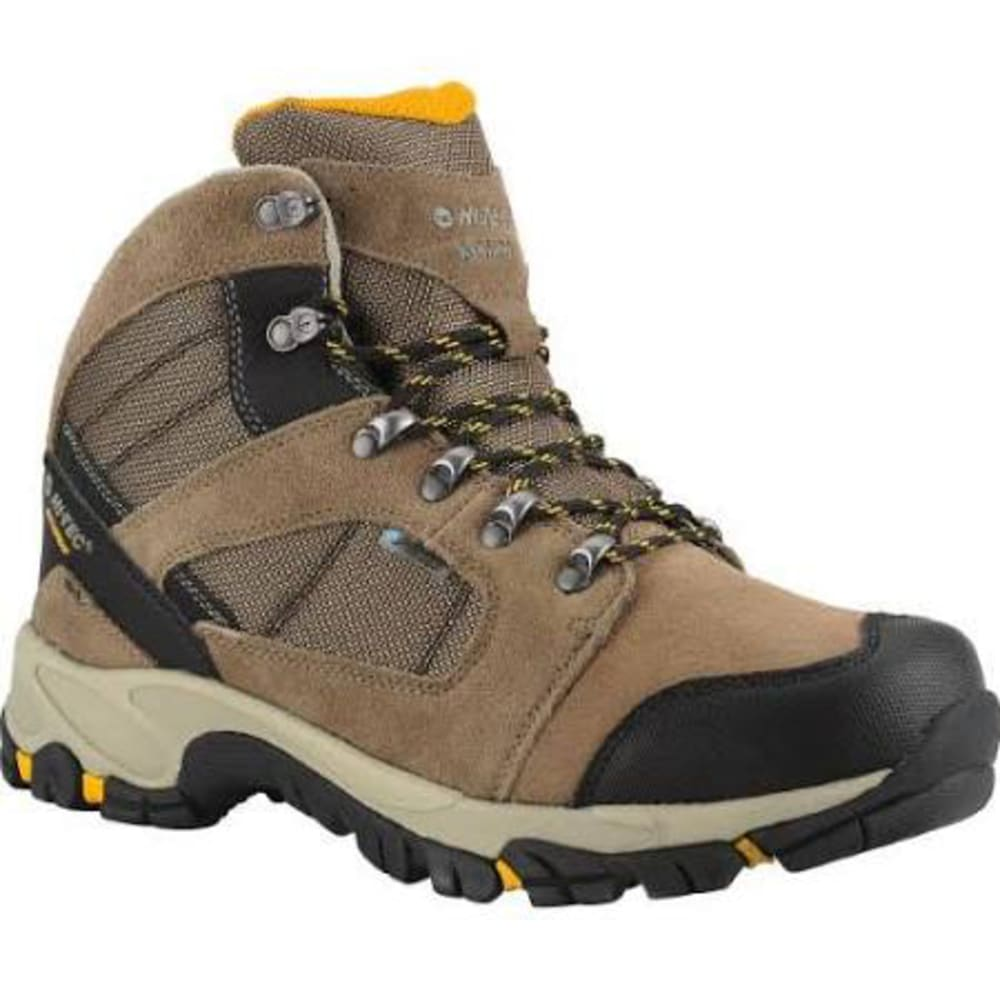 HI-TEC Men's Borah Peak Mid Hiking Boots, Smokey Brown/Gold - SMOKEY BROWN/GOLD
