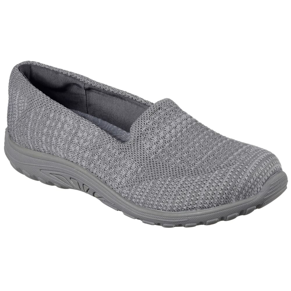 SKECHERS Women's Reggae Fest - Stitch Up Slip-On Shoes, Grey - GREY
