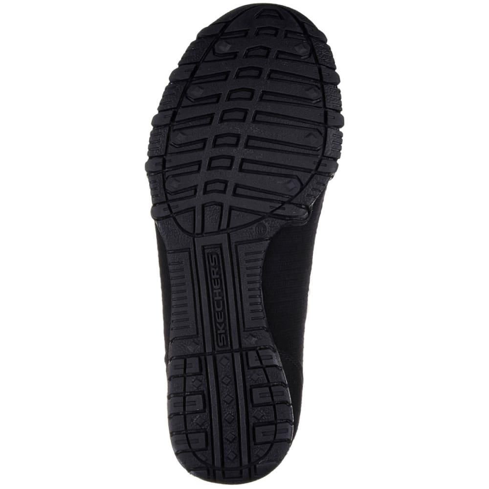 SKECHERS Women's Relaxed Fit: Bikers -  Lounger Slip-On Shoes, Black - BLACK