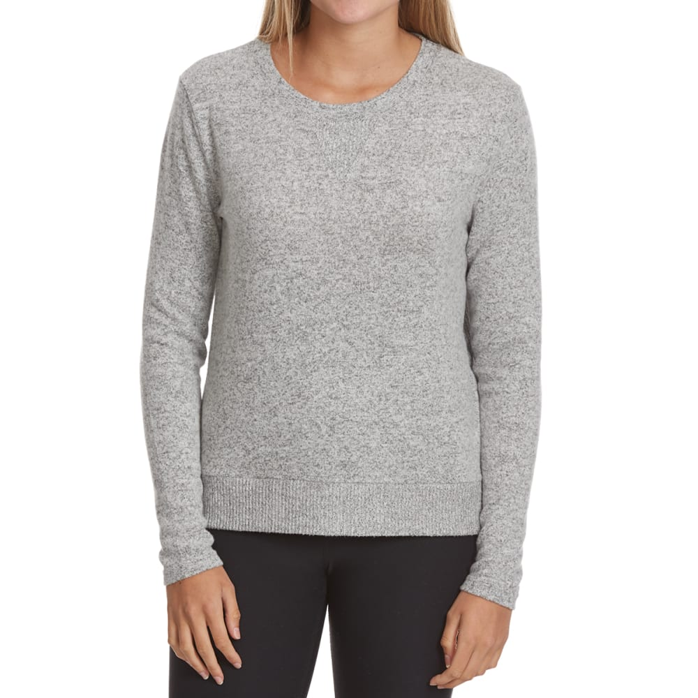 POOF Juniors' Marled High-Low Snit Long-Sleeve Sweater S