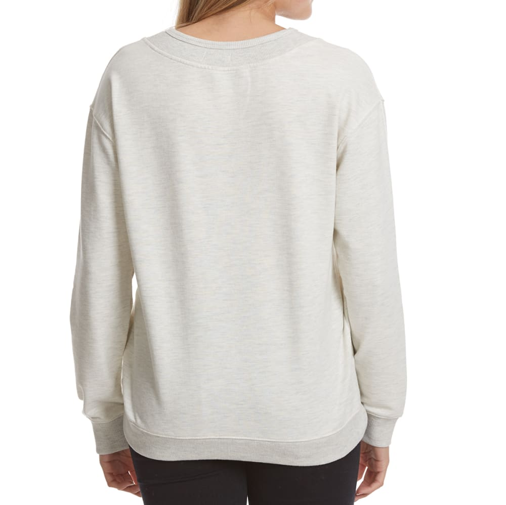 POOF Juniors' X-Front French Terry Pullover - WHITE HTHR