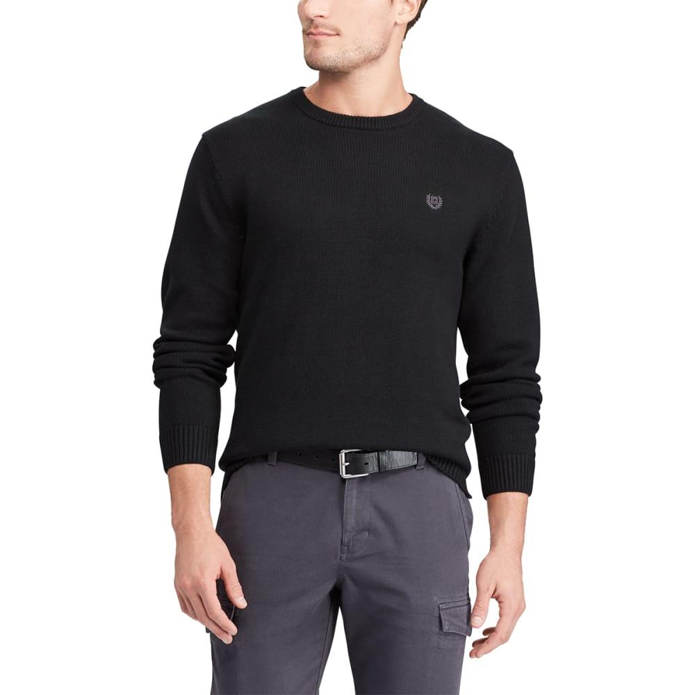 CHAPS Men's Solid Crewneck Long-Sleeve Sweater M