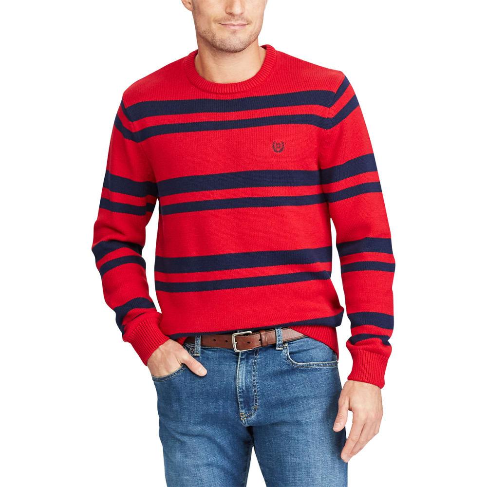 CHAPS Men's Striped Crewneck Long-Sleeve Sweater M